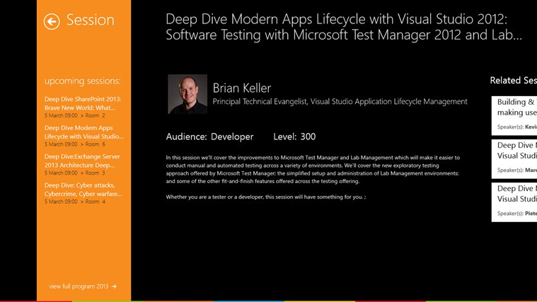 Microsoft TechDays Belux 2013 schermafbeelding 4