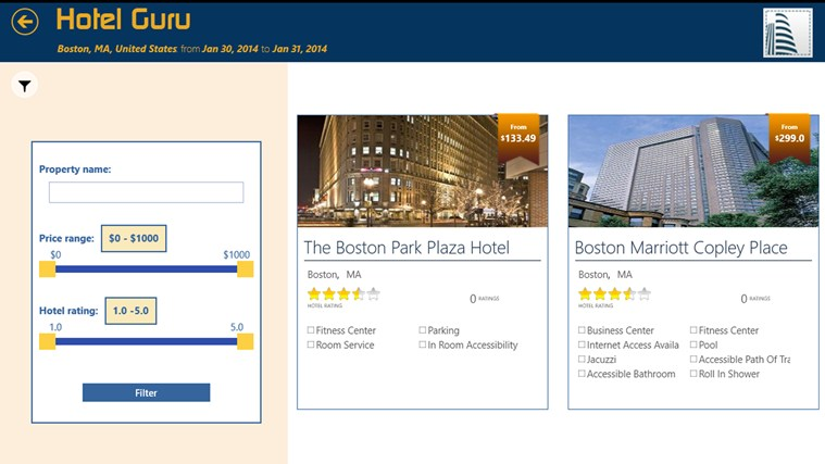 Hotel Guru screen shot 2