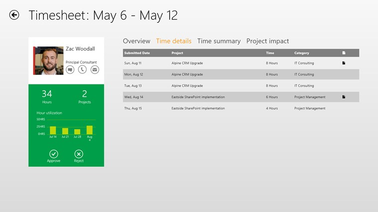 Dynamics AX 2012 Approvals screen shot 4