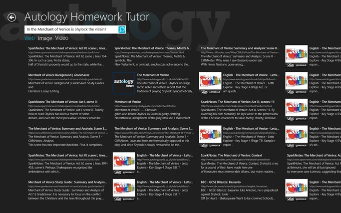 Autology - Homework Tutor screen shot 2