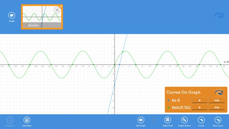 Blu Graphing Calculator screen shot 0