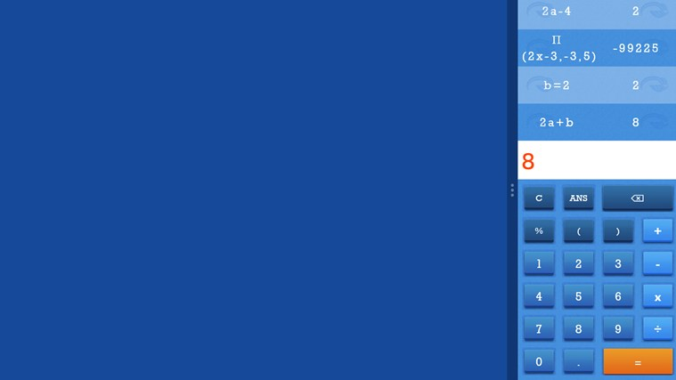 Blu Graphing Calculator screen shot 4