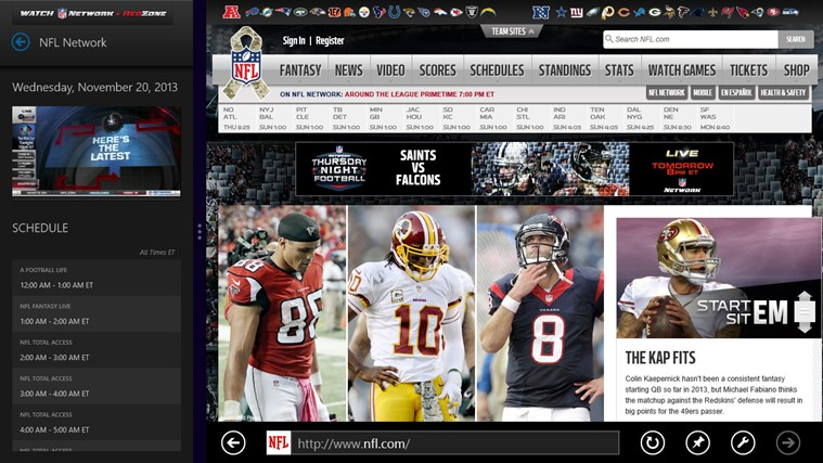 Watch NFL Network screen shot 2