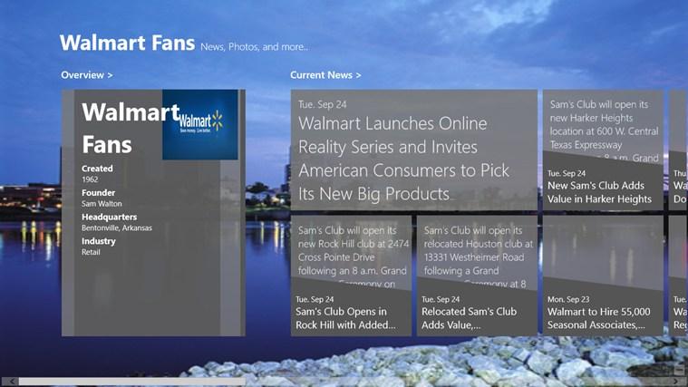Walmart fans app for windows in the windows store
