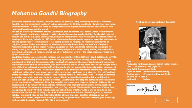 a biography and life work of mohandas karamchand gandhi Mohandas karamchand gandhi (mahatma gandhi) then went to south africa to work for an indian firm in natal in 1934 gandhi survived three attempts on his life.