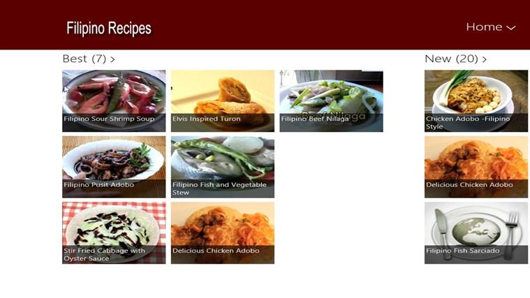 Filipino Recipes screen shot 0