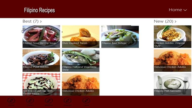 Filipino Recipes screen shot 2