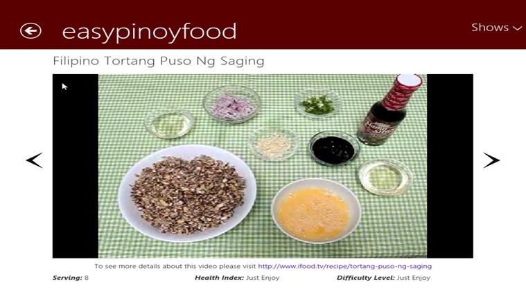 Filipino Recipes screen shot 4