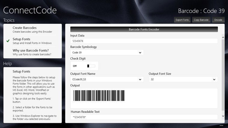 Barcode Software screenshot 0