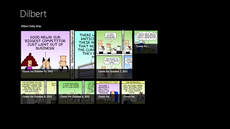 Dilbert screen shot 0