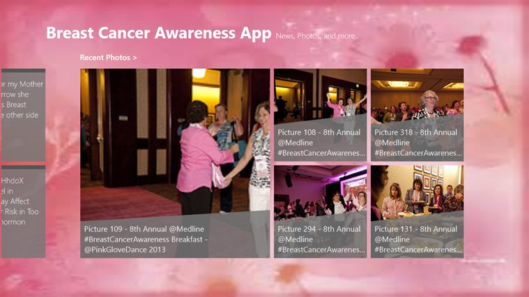 Breast Cancer Awareness App screen shot 2