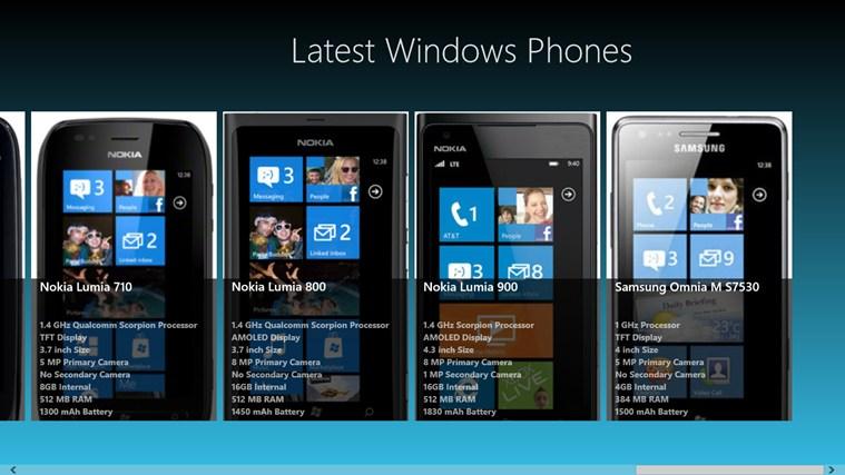 Latest Windows Phones screen shot 2