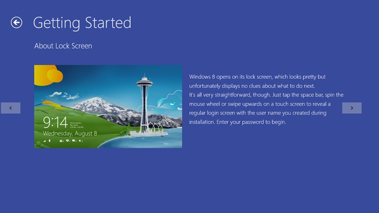 Guide for Windows 8.0 screen shot 2
