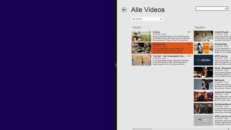 ARTE TV Screenshot 8