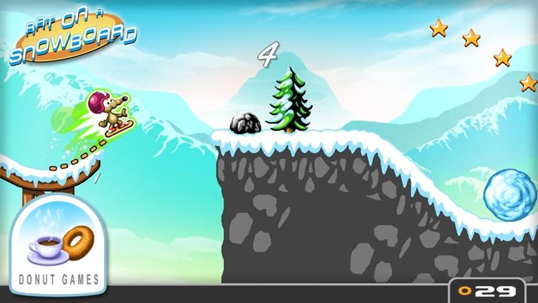 Rat on a Snowboard screen shot 0