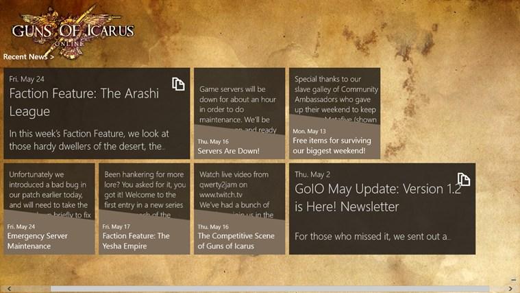 Guns of Icarus Online Info Hub screen shot 0