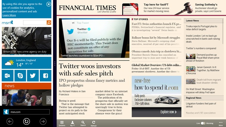 Financial Times screen shot 2