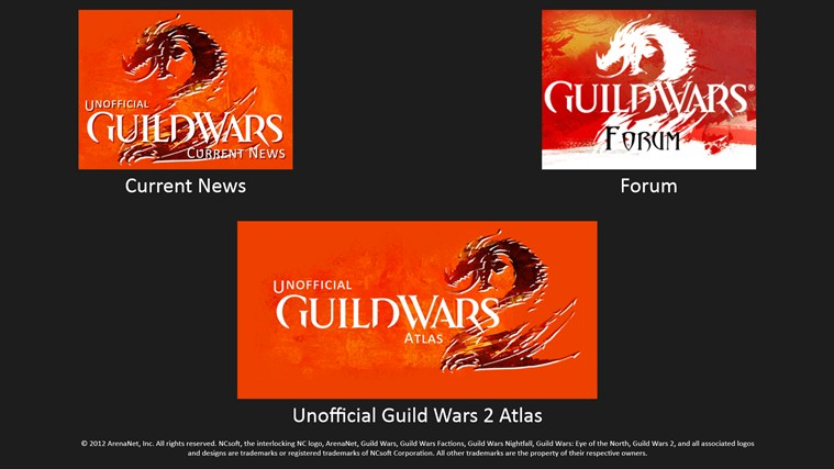 Unofficial Guild Wars 2 Atlas Ad Free snimka zaslona 0