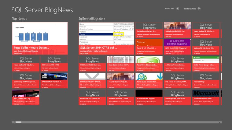 SQL Server BlogNews Screenshot 0