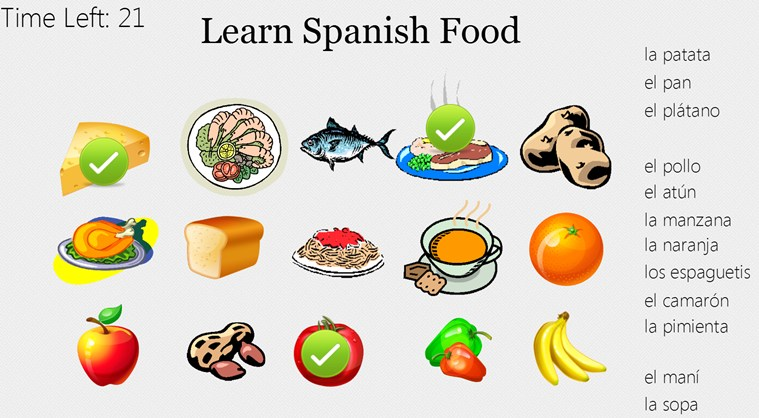 Microsoft e learning for Cuisine in spanish