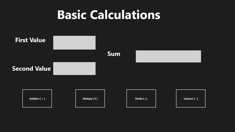 Basic Calculations screen shot 0