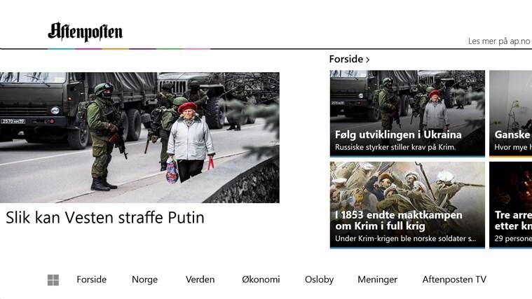 Aftenposten skjermbilde 0