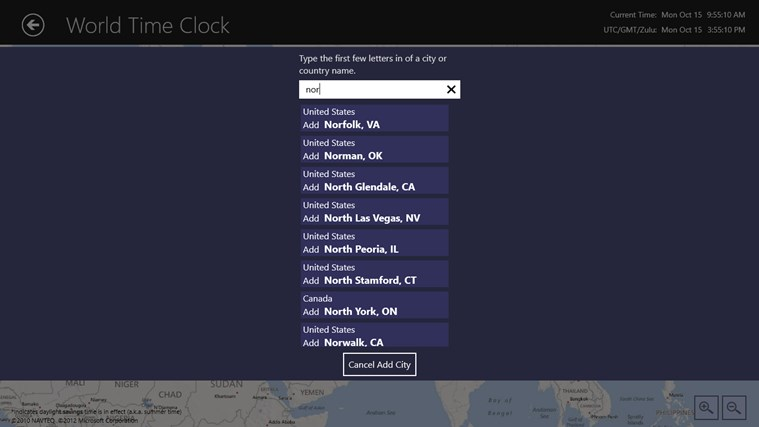World Time Clock screen shot 6