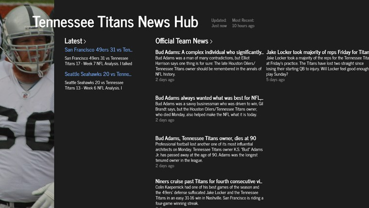 Tennessee Titans News Hub screen shot 0