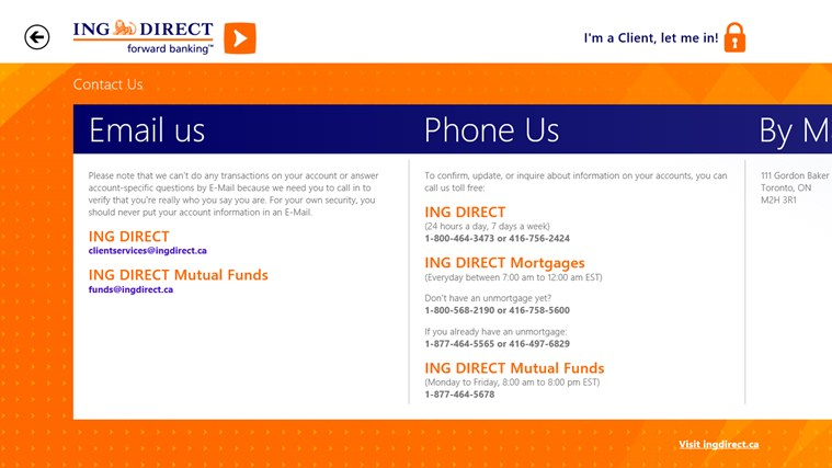 ING DIRECT Canada screen shot 8