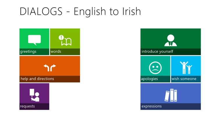 Irish Dialogs gabháil scáileáin 0