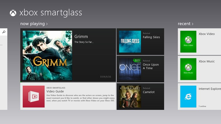 Xbox 360 SmartGlass screen shot 0