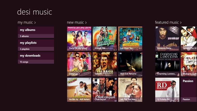 Desi Music for Windows Phone 2.1.0.0 full