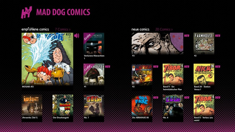 Mad Dog Comics Screenshot 0