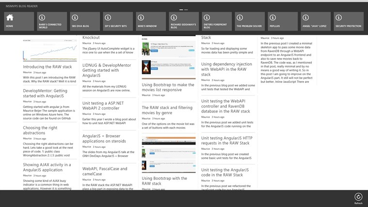 MSMVPs Blog Reader screen shot 2