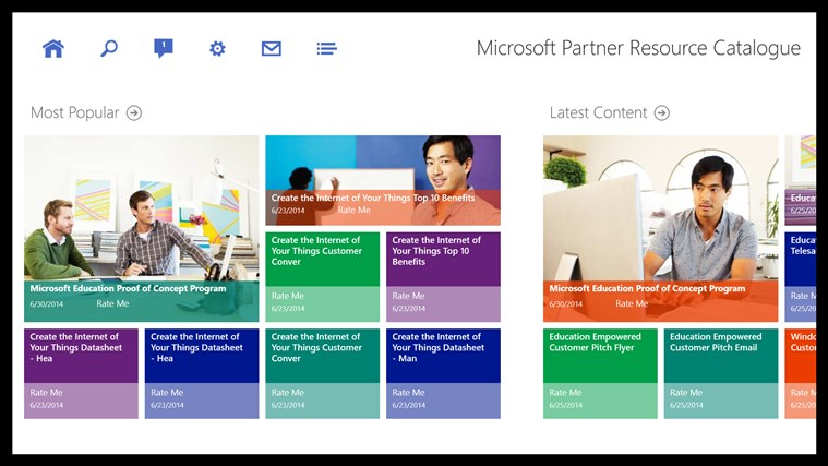 Microsoft Partner Resource Catalog screen shot 0