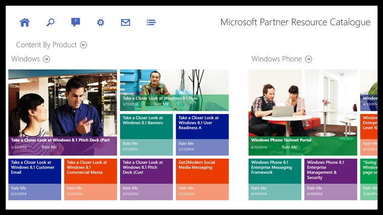 Microsoft Partner Resource Catalog screen shot 2