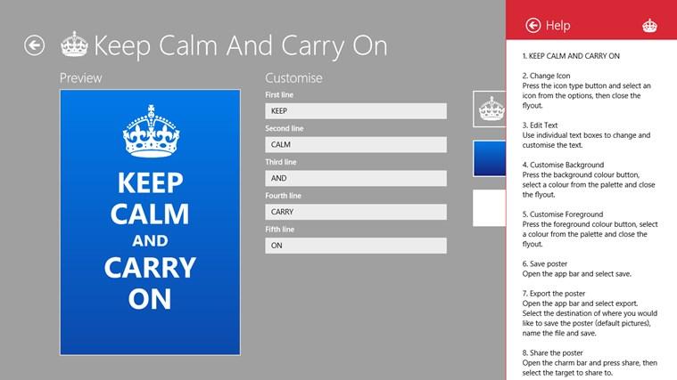 Keep Calm petikan skrin 4