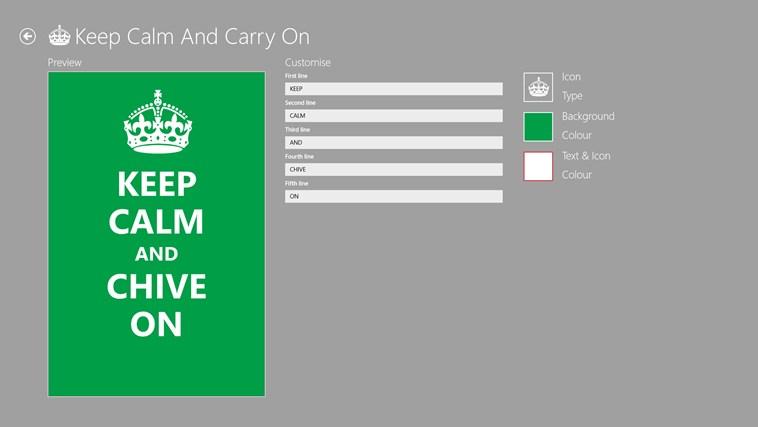 Keep Calm petikan skrin 6
