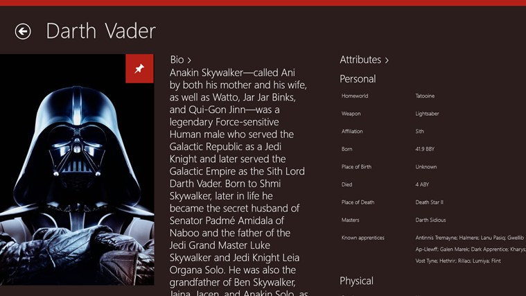 Star Wars Almanac screen shot 2