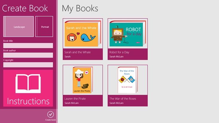 CreateBook screen shot 0