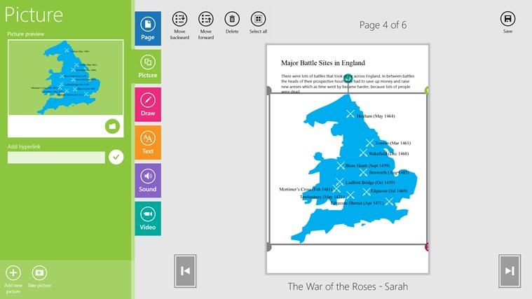 CreateBook screen shot 2