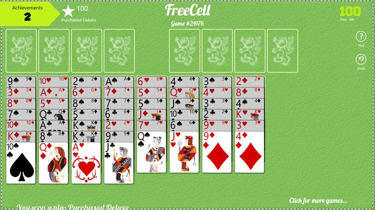 FreeCell FREE Windows 8 Game
