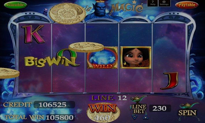 GENIE MAGIC SLOT MACHINE capture d'écran 0
