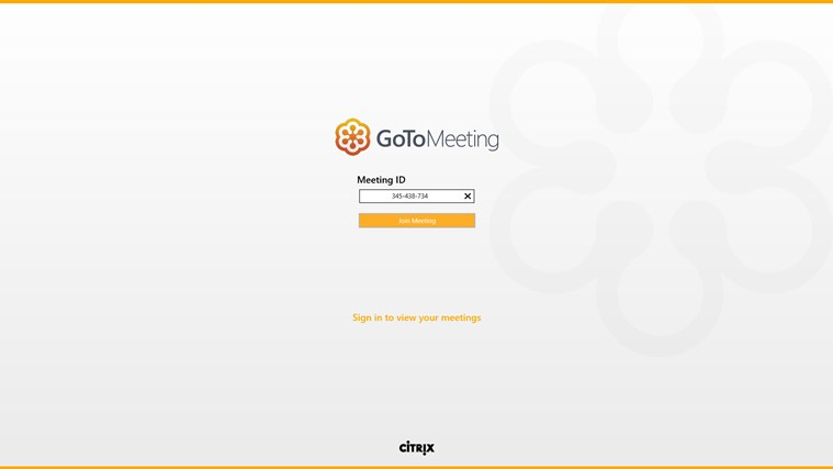 GoToMeeting screen shot 0