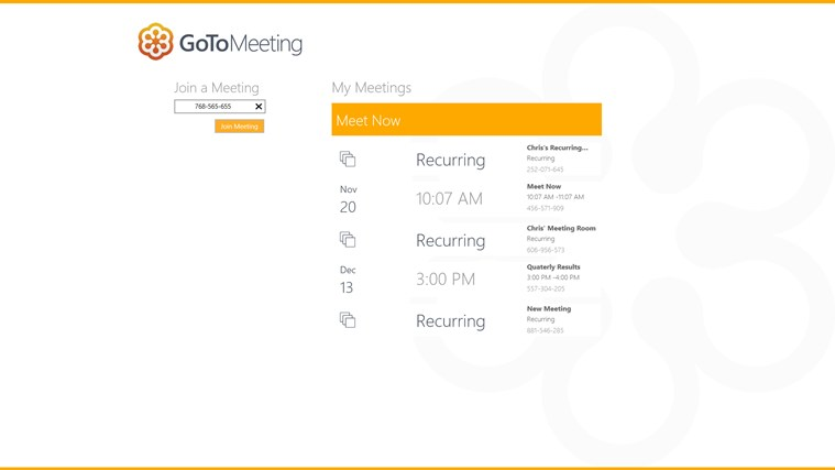 GoToMeeting screen shot 2