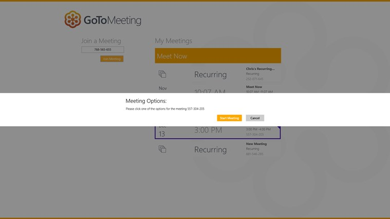 GoToMeeting screen shot 4