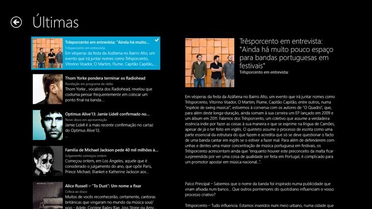 Notícias Palco Principal captura de ecrã 4