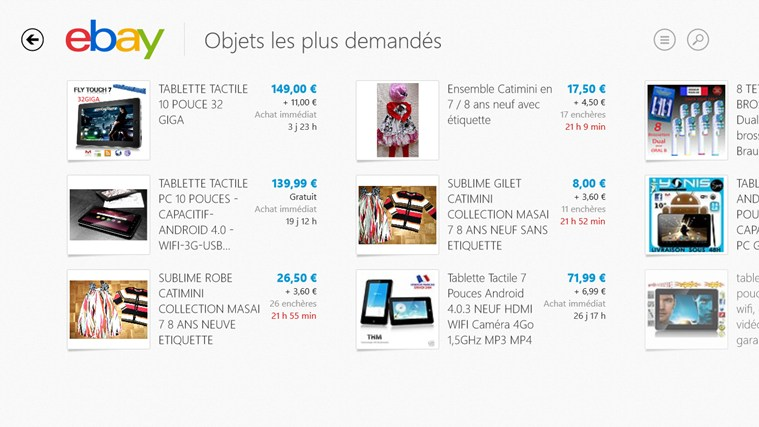 eBay capture d'écran 4