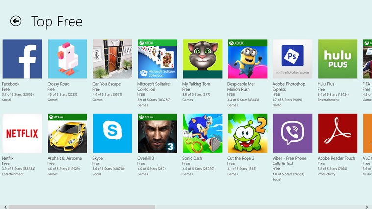 Apps screen shot 2
