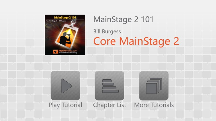 MainStage 2 101 - Core MainStage screenshot